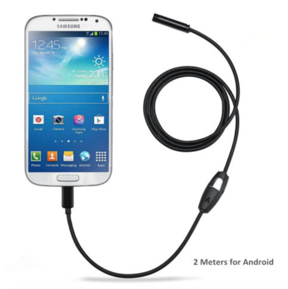 android smartphone compatible endoscope